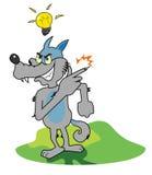 Волк имеет идею Стоковые Изображения