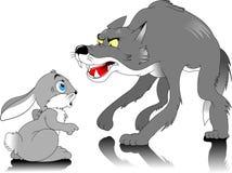 Волк и кролик иллюстрация штока