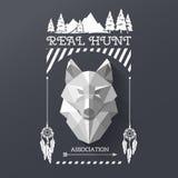 Волк охотника socirty Стоковая Фотография RF
