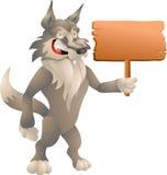 Волк с знаком Стоковая Фотография RF