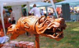 Волк Sculpturte Draco Dacian Стоковые Изображения RF