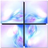 волна абстрактной предпосылки голубая Стоковое Изображение