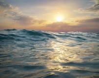волна захода солнца природы элемента конструкции состава Стоковые Изображения