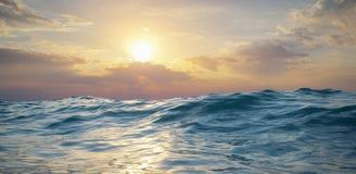 волна захода солнца природы элемента конструкции состава Стоковые Фото