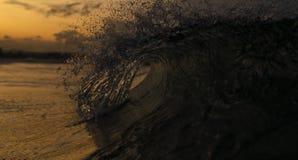 Волна захода солнца Стоковое Фото