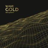 Волна золота Wireframe иллюстрация штока
