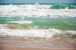 Волна и пульсация в океане Стоковое Фото