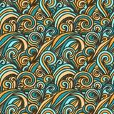 волна иллюстрации copyspase абстрактной предпосылки голубая Стоковые Изображения RF
