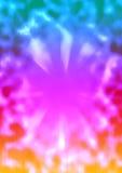 Волна и sunburst предпосылки красочные Стоковые Фото