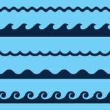 волна картины безшовная Стоковые Фотографии RF