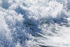 Волна корабля парома на открытом океане Стоковая Фотография