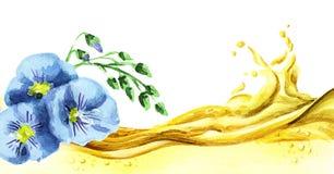 Волна масла льна бесплатная иллюстрация