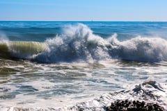 Волна моря во время шторма Стоковые Фотографии RF