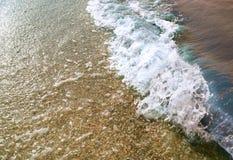 Волна моря на заходе солнца стоковое фото rf