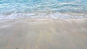 Волна моря на пляже песка Стоковые Фотографии RF