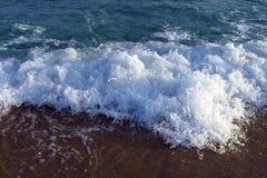 Волна моря на пляже Стоковая Фотография
