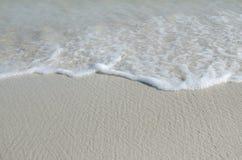 Волна на пляже Стоковая Фотография