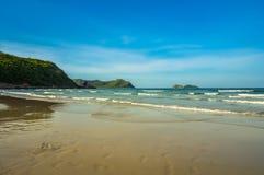 Волна пляжа и моря Стоковая Фотография