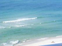 Волна пляжа Destin Стоковое Изображение RF