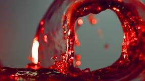 Волна сока виноградины видеоматериал