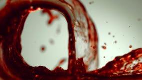 Волна сока виноградины сток-видео