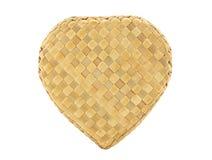 Волна формы сердца бамбуковая на белой предпосылке Стоковые Фото
