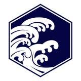 Волна цунами иллюстрации вектора гигантская Стоковая Фотография RF