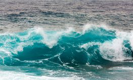 Волна шторма в Средиземном море Стоковое Изображение