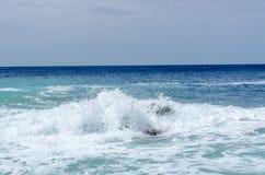 Волна шторма на море Стоковое Изображение RF