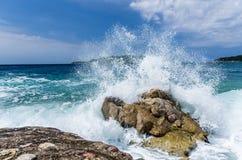 Волна шторма на море Стоковое Фото