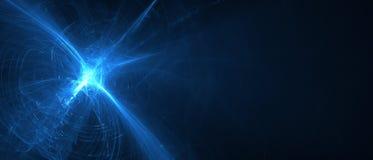 Волна энергии голубого свечения Стоковое Фото
