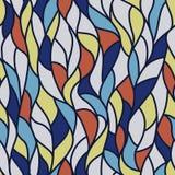 Волнистая абстрактная флористическая предпосылка Стоковое Изображение RF