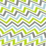 Волнистая зеленая серая и голубая картина Шеврона Стоковые Изображения RF