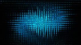 волнистое абстрактной предпосылки голубое Стоковая Фотография RF
