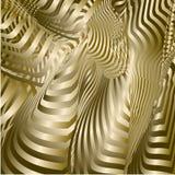 волнистое абстрактной предпосылки золотистое иллюстрация штока