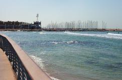 Волнистое Средиземное море Стоковые Изображения