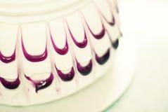 Волнистое украшение торта Стоковые Фото