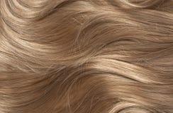 Волнистые белокурые волосы Стоковые Фотографии RF