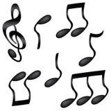 Волнистые музыкальные примечания Стоковое фото RF