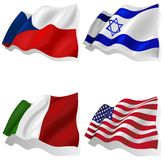 Волнистые флаги иллюстрация штока