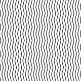 Волнистые, billowy линии зигзага иллюстрация вектора