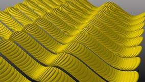 Волнистый желтый цвет Stripes синус сток-видео