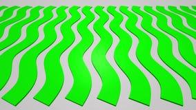 Волнистый зеленый цвет Stripes синус сток-видео