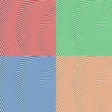 Волнистый, зигзаг выравнивается, выравнивается с искажением, заломом Monochrome PA Стоковые Изображения