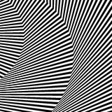 Волнистый, зигзаг выравнивается, выравнивается с искажением, заломом Monochrome PA Стоковые Фото