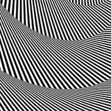 Волнистый, зигзаг выравнивается, выравнивается с искажением, заломом Monochrome PA Стоковое Изображение