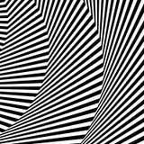 Волнистый, зигзаг выравнивается, выравнивается с искажением, заломом Monochrome PA Стоковые Фотографии RF