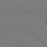 Волнистый, зигзаг выравнивается, выравнивается с искажением, заломом Monochrome PA Стоковые Изображения RF