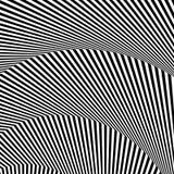 Волнистый, зигзаг выравнивается, выравнивается с искажением, заломом Monochrome PA Стоковое Фото