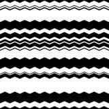 Волнистый зигзаг выравнивает repeatable картину - скачками PA monochrome Стоковая Фотография RF